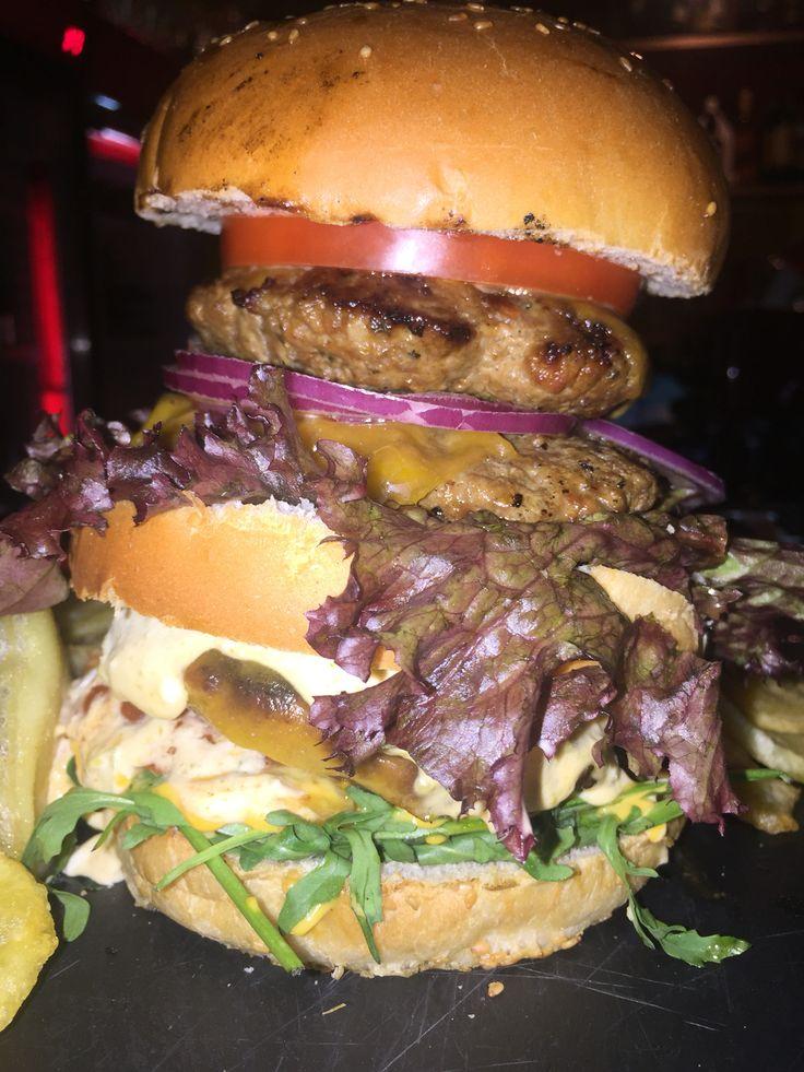 Sinburgerbar the awesome place to be #sinburgerbar #bestburgers #buildupyourownburger #tasteit