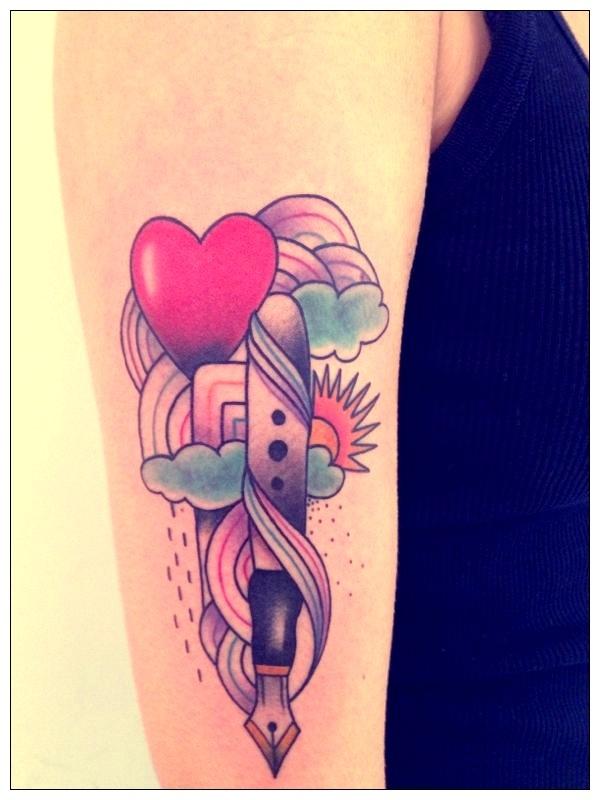Tattoo by amanda toy pen and rainbow tatouages pinterest for Prezzi tatuaggi amanda toy