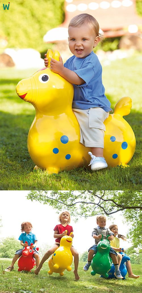 Kinder lieben das lustige Hüpfpferd, auf dem sie drinnen und draußen reiten können. ►Hier erhältlich: https://wehrfritz.com/de_DE/huepfpferd-versch-farben-springen-huepfen-krippe-kindergarten/p/054671?zg=krippe_kindergarten&ref_id=60847 #hüpfen #Garten #Outdoor