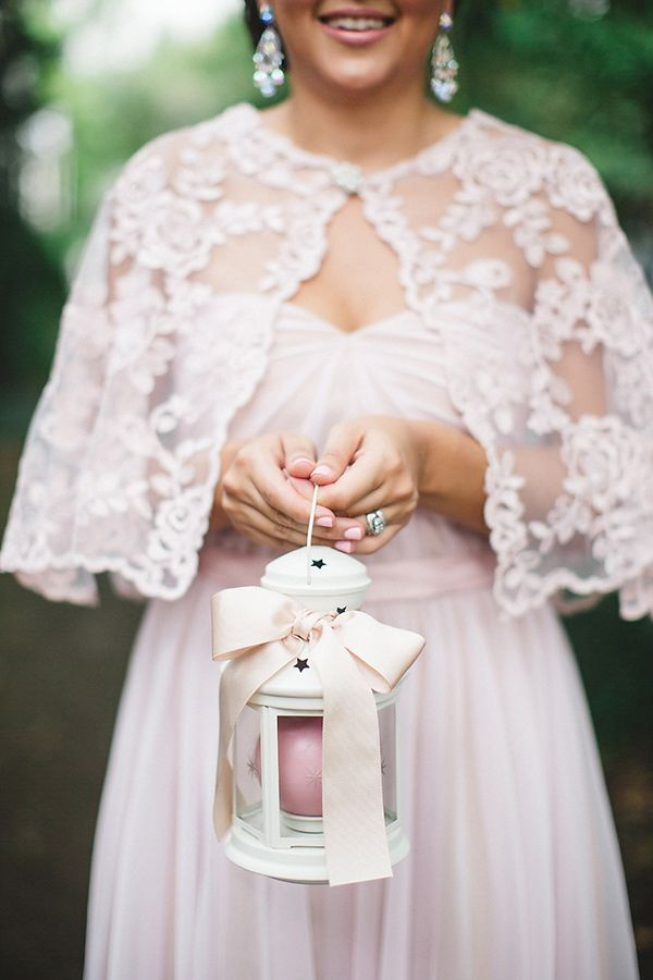 bridemaid with lace bolero - photo by Izzy Hudgins Photography http://ruffledblog.com/handcrafted-sparkle-wedding-in-savannah