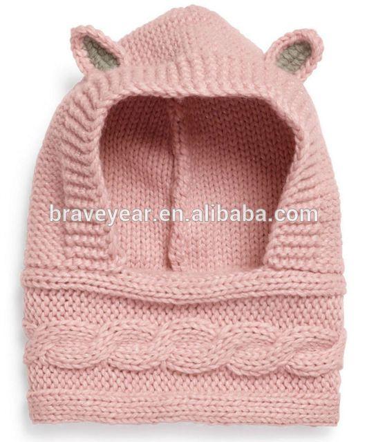 Acrílico cabeça de animal capuz cachecol de malha de inverno para crianças-em Cachecóis de malha de Cachecóis e xales em m.portuguese.alibaba.com.