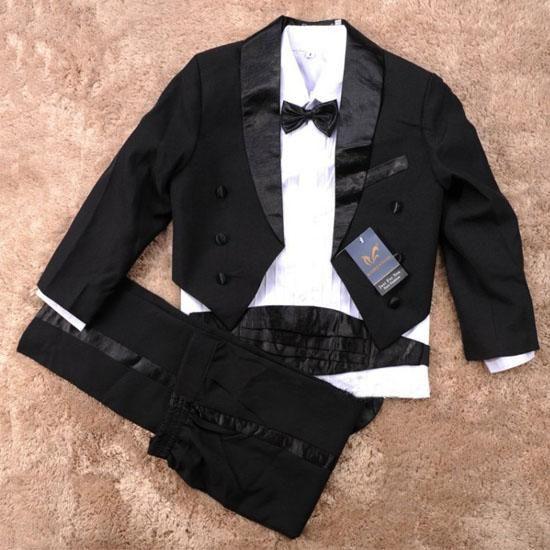 Elegant Boy Black Suit/Tuxedo - Formal/Wedding 6-Pcs Suit http://www.adamandevebabywear.com.au/p/6225050/elegant-boy-black-suittuxedo---formalwedding-6-pcs-suit.html