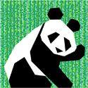 Paper Pieced Panda Quilt Block