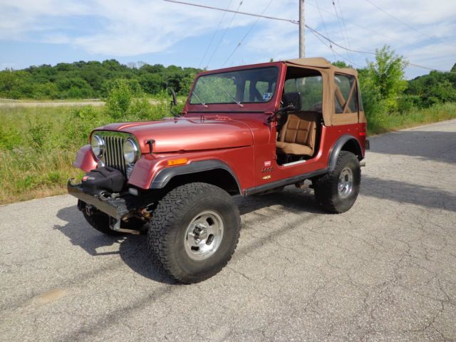 1978 Jeep CJ-7, Levi's, Automatic, 96K, V8, Very Original, Autumn Red, 3rd Owner