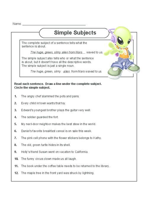 Tips for Writing an Effective Simple subjects and simple – Simple Subject and Simple Predicate Worksheet