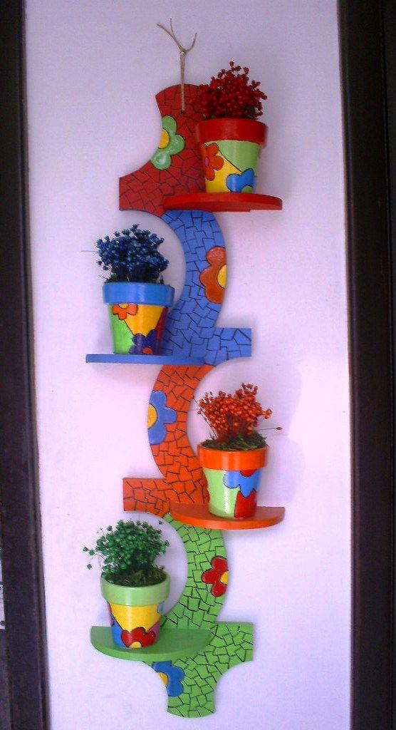 Columna de mosaico para materos