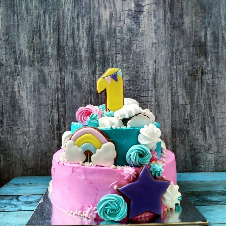 Торт для девочки на годик Follow us @big_berry_kiev