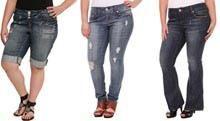 Модные джинсы полных девушек