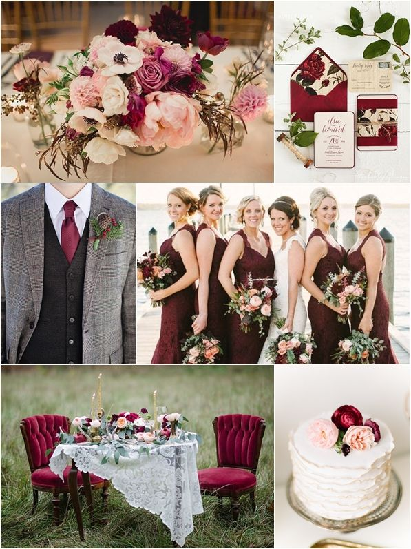 Wedding Philippines   Weddings By Color   Marsala + Blush