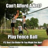 Or if you're to lazy to put up your net..why did I never think of this