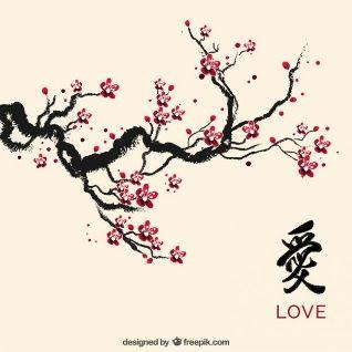 Tinta flor de cerezo