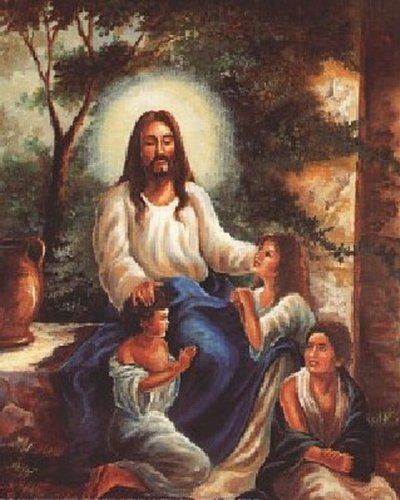 Depicting the charismatic aura of Jesus Christ! Add this Jesus Christ with children's in the garden Christian religion art print poster into your home in order to bring infusing serenity and spirituality. This poster will amplify the look of your home decor. You'll definitely enjoy viewing this poster into your wall. Hurry up and order this poster for its excellent quality with high degree of color accuracy.