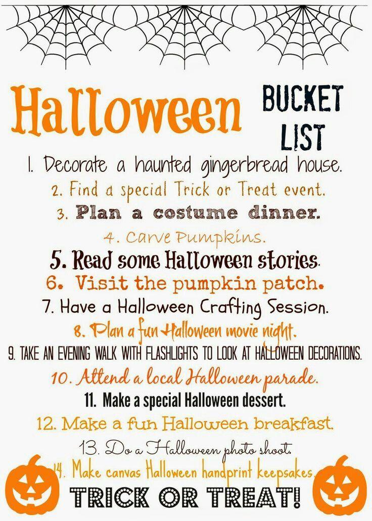Pin By Ashley Rodriguez On Halloween Halloween Buckets Halloween Bucket List Halloween Printables