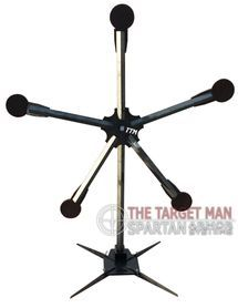 fully assembled texas star steel shooting target