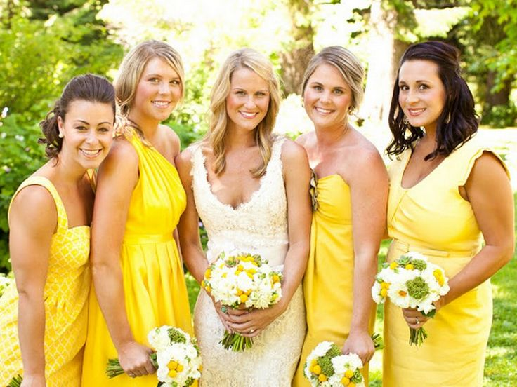 1000+ Ideas About Yellow Bridesmaid Dresses On Pinterest