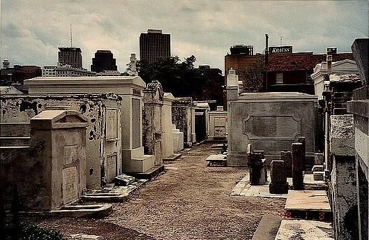 This is one of the local tourist attractions in New Orleans > the local cemetary.