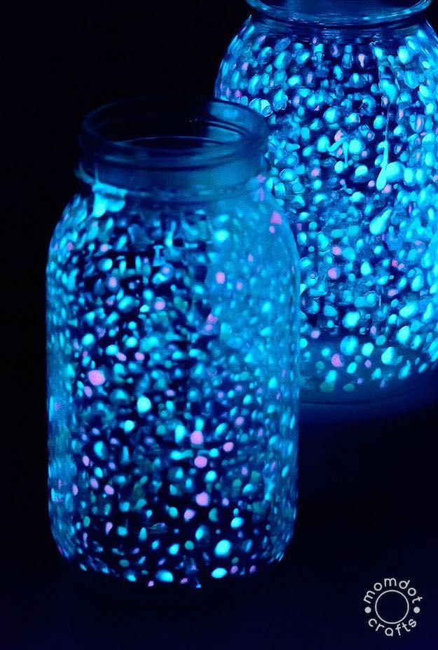 DIY Galaxy Glow Jar | Things to Do with Glass Jars : DIY Recycling Projects