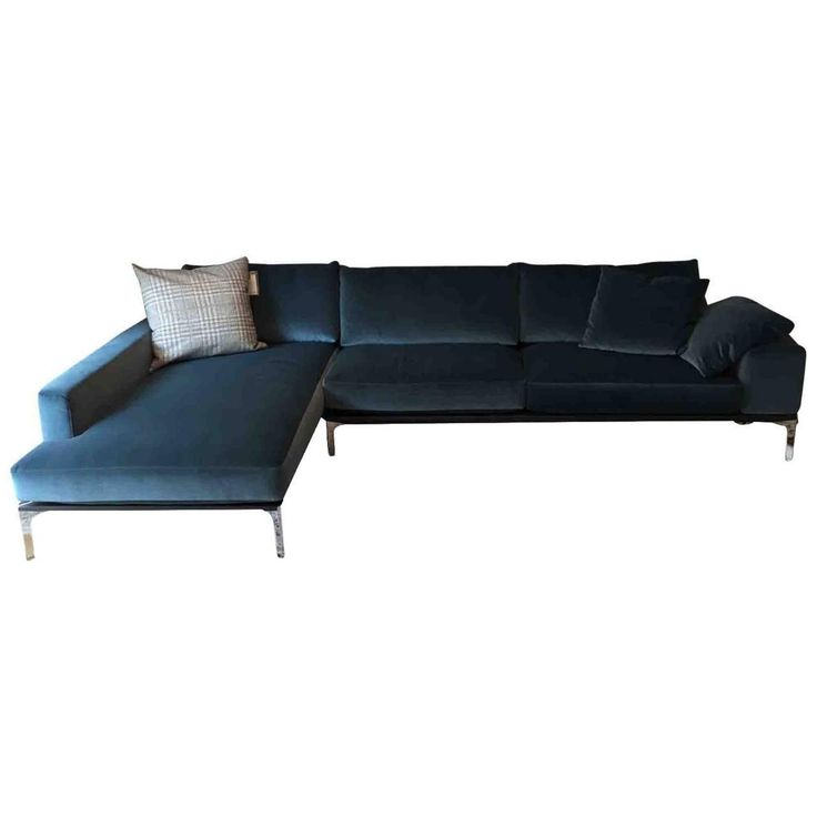 "Sofa ""Spirit"" by Manufacturer Bielefelder Werkstätten in Metal, Wood and Fabric"