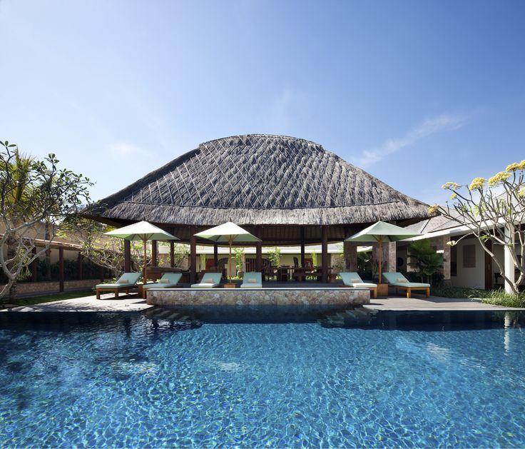 Villa Satria swimming pool by day http://www.prestigebalivillas.com/bali_villas/villa_satria/49/live_availability/