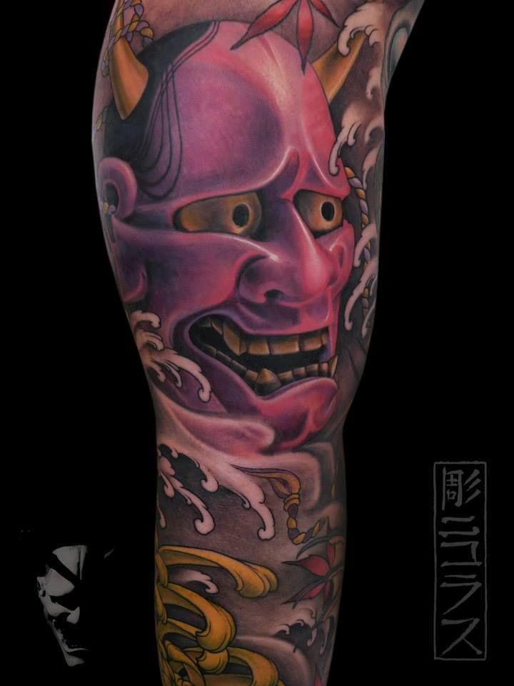 Oni Mask Tattoo: TATTOO NICKLAS WESTIN