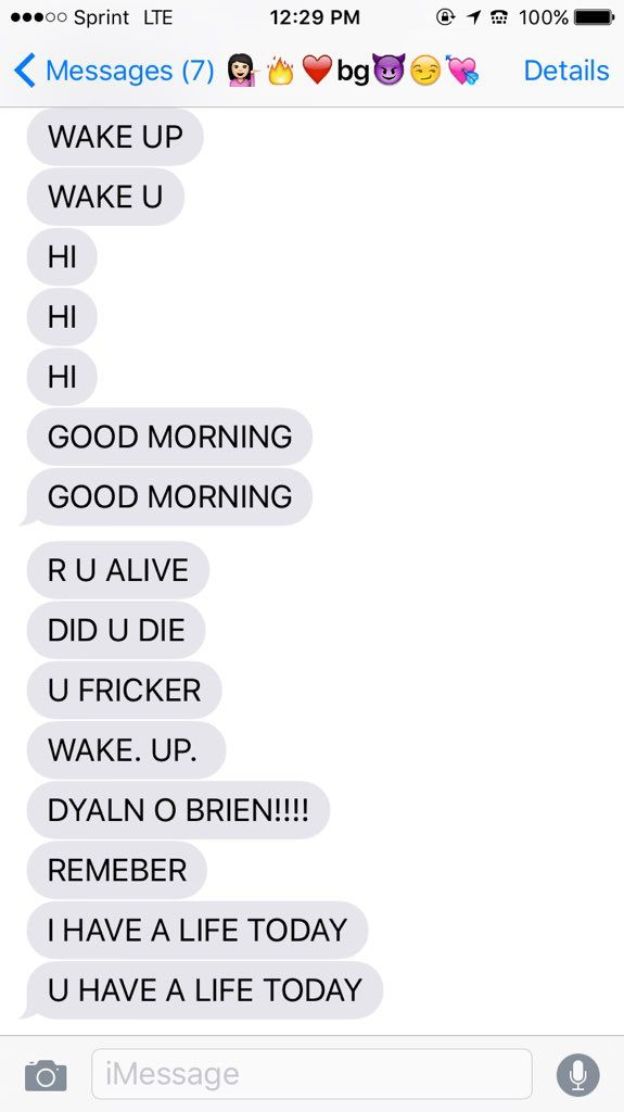 good morning text not dating