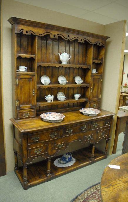 Farmhouse Oak Welsh Dresser Cupboard Kitchen Rack