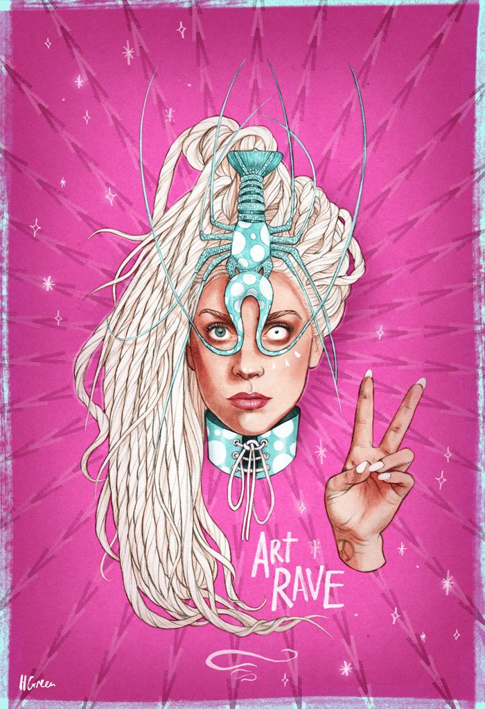 Lady Gaga artRAVE fanart by Helen Green