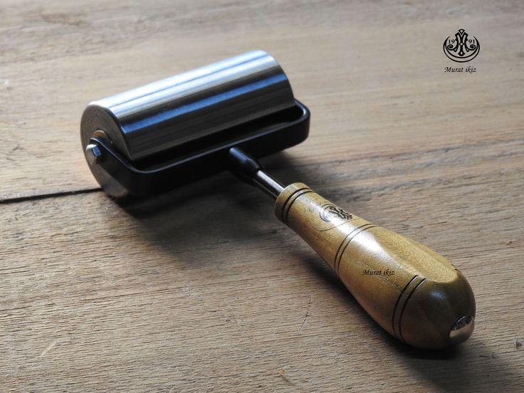 Deri İşlerinde Kullanılan Çelik  Silindir...Murat İkiz Atölyesi