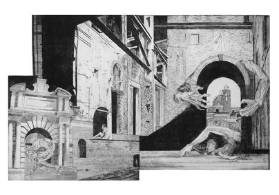 Urbinola IV, Aleksandra Błaszczyk, akwaforta, 70 x 100 cm