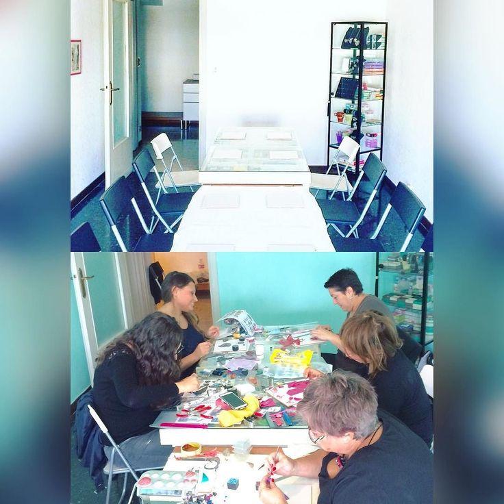 #primaedopo #beforeandafter ! Ecco il mio studio qualche giorno prima dell'arrivo dei miei allievi e qualche ora dopo l'inizio del corso! Come cambia eh?  . . . #archidee #colorfullab #becreative #bepositive #studio #laboratorio #workshop #polymerclay #fimo #cernit #polymerclayworkshop #corso #corsofimo #roma #ig_roma #igersroma #eventiroma #masterclass #polymerclayclass #grouppicture #groupclass #groupphoto #creativegroup #gruppocreativo #igers #igersitalia #ig_italia