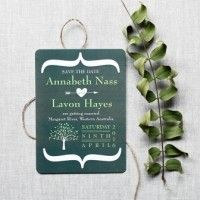 Contemporary Save The Date Tree