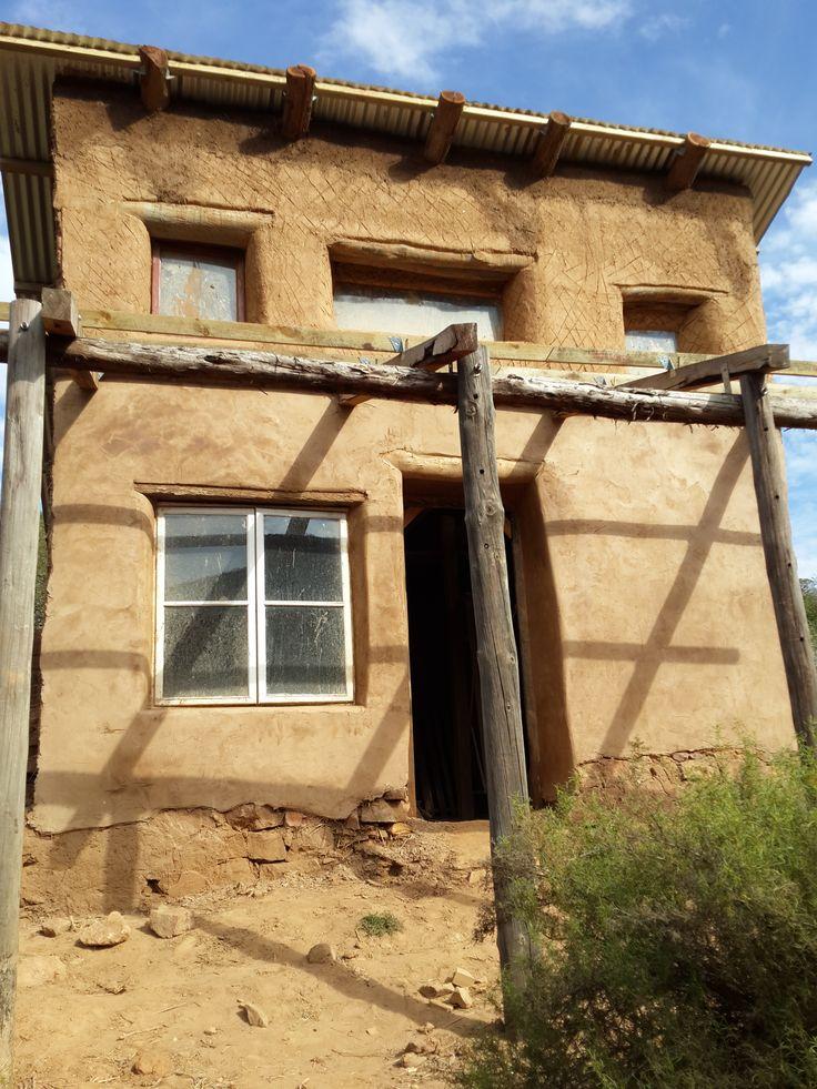 Final plaster coat done below front part below veranda roof.