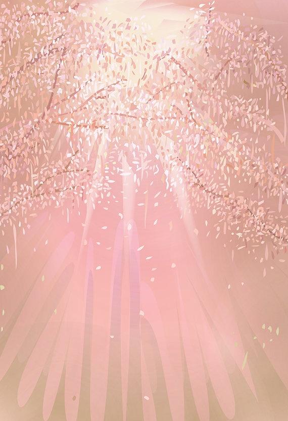 $39.00 art by Aeropagita Prints via Etsy.com > Light Through Trees - Art Print - 13 x 19 - Open Edition - trees, foliage, sunlight, pink