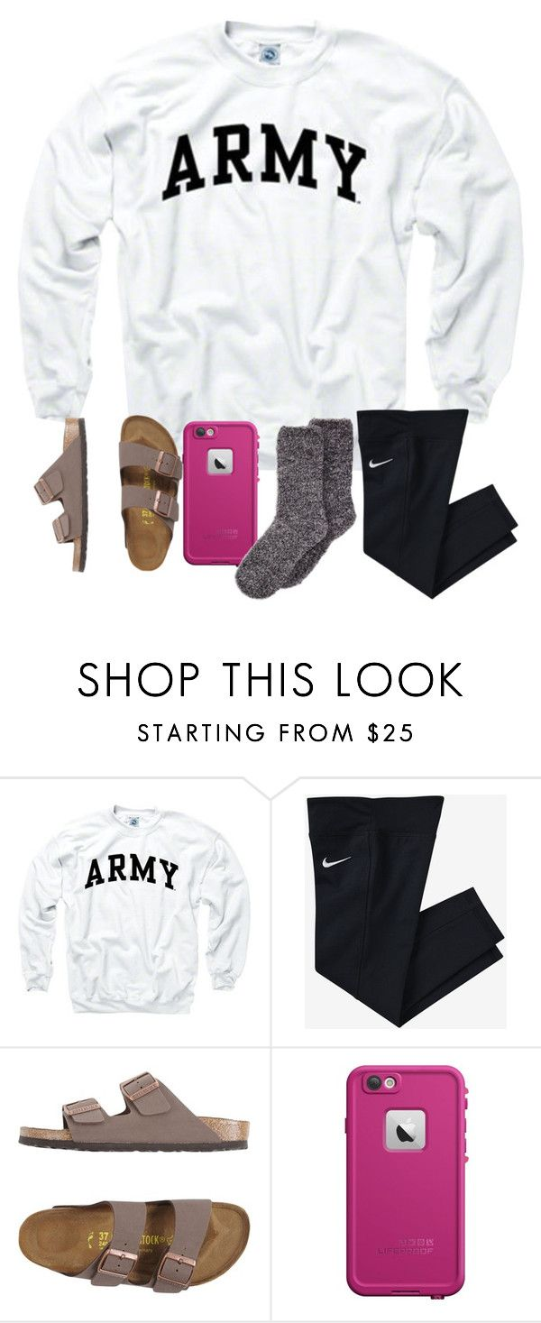 """""""exciting week ahead ((:"""" by arieannahicks ❤ liked on Polyvore featuring NIKE, Birkenstock, LifeProof and Aéropostale"""