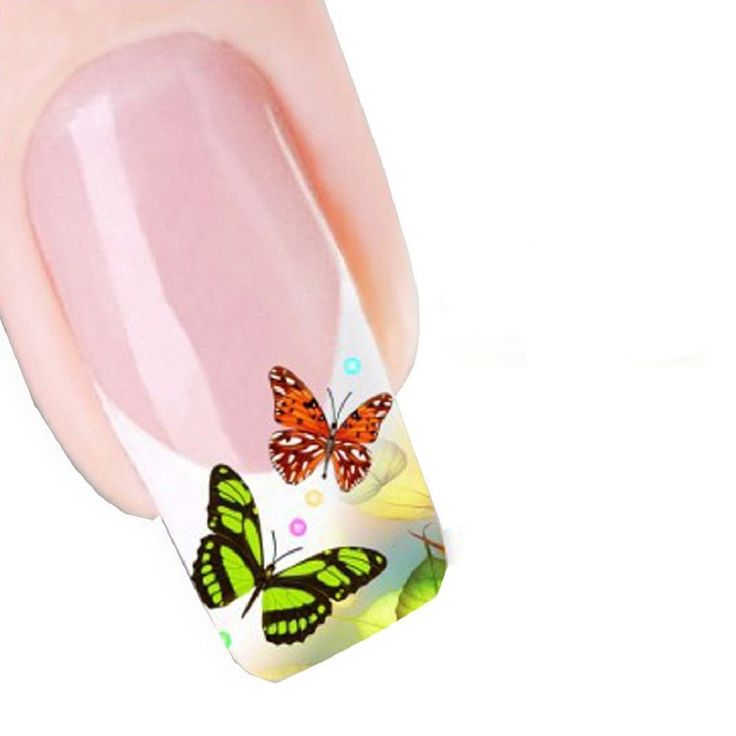 Generic Women's Sweet Modern Design Nail Tip Art Transfers Decal Sticker Colorful Butterfly. No glue required and just peel off to remove. Size:5.2CMX6.3CM. These look so cute and gorgeous on any colour nail varnish.