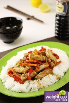 Healthy Dinner Recipes: Vietnamese Pork Stir Fry. #HealthyRecipes #DietRecipes #WeightlossRecipes weightloss.com.au