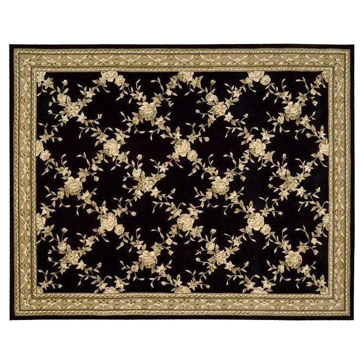 Julian Floral Rug - 8' x 11', Black