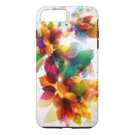 Colorful Floral Tough iPhone 7 Plus Case - click to get yours right now!
