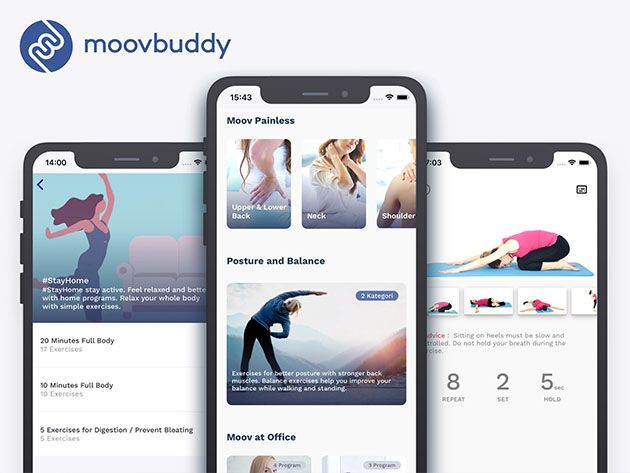 Moovbuddy Exercise App Lifetime Subscription For 49 Workout Apps Exercise Lifetime