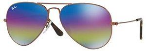 Óculos de sol Ray Ban 3025 Bronze Espelhado Rainbow