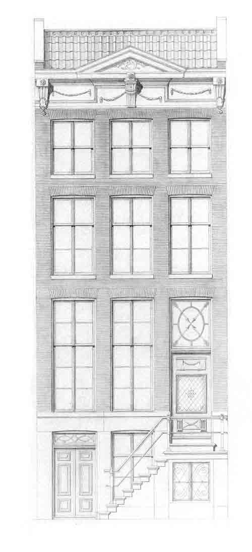 HISTORISCHE GEVELS IN AMSTERDAM Amsterdam is rijk aan monumentale panden en biedt een grote schakering aan diverse vormen van gevels. Tussen 1975 – 1980 moesten huizen in verband met restauratie opnieuw worden getekend. Kopieën van een zevental verschillende bijzondere gevels zijn bij Postersquare te bestellen. Het betreft panden die vanaf de 17e eeuw werden gebouwd. Afmetingen: 29 br x 74 cm hg. Bijzonderheden: Woning met trap Meer info www.postersquare.com