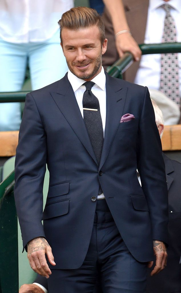 David Beckham from 2015 Wimbledon: Star Sightings  Back to Wimbledon he goes! The soccer star is oh-so dapper as he heads in to watch another match.
