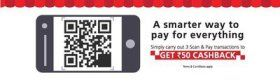 Kotak- Get Rs 50 cashback on 3 Scan & Pay transactions using Kotak Cards