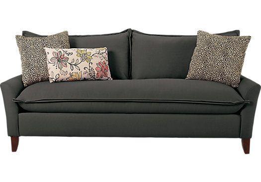 Shop For A Sofia Vergara Catalina Charcoal Sofa At Rooms