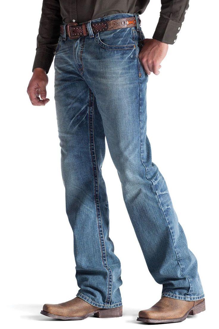 Men's Ariat Jeans M4 Scoundrel Indigo Denim Denim... and boots.... Definitely