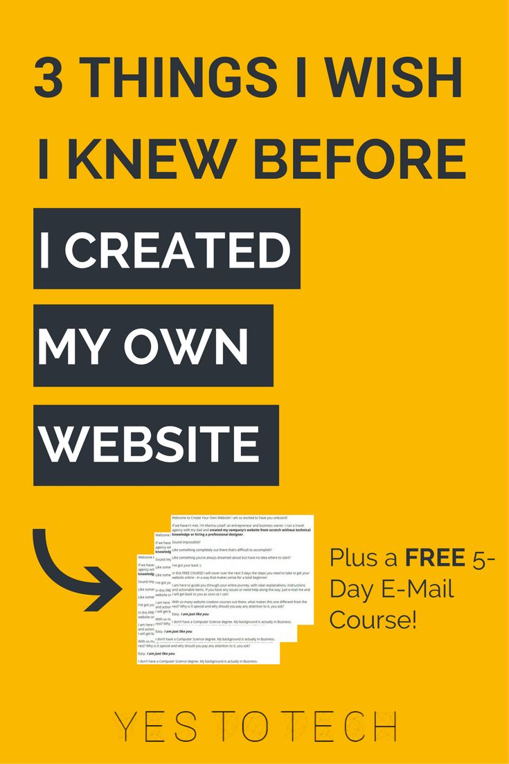 The first website I built took me months to create. The second took me just a couple of hours. Why the huge difference? Because the second time round I knew exactly what to do when, and what to prioritize. Check out the 3 things I wish I knew before I created my own website.