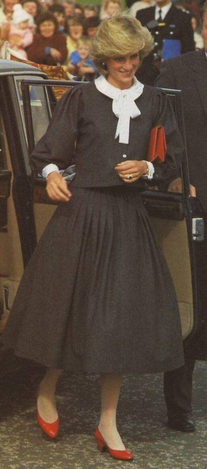 September 10, 1983: Princess Diana at the Youth Unemployment Scheme Centre in Coatbridge, Glasgow.