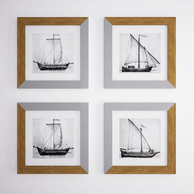 """Рамки """"Cossack Boats"""" не просто настенный декор - это то, что можно дарить близким и любимым людям, передавать по наследству из поколения в поколение. Прямые линии двух материалов рамки: теплое дерево и холодная, полированная нержавеющая сталь, плавно перетекают друг в друга.  Изображение — казацкие лодки: «Чайка», «Дубок», «Струг», «Барказ».  Hashtag - #ramkiboatskog"""
