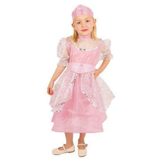 Roze prinsessenjurk voor kinderen met zilveren omslag voor een echte prinses. Kijk voor nog meer prinsessen artikelen in deze winkel om de outfit compleet te maken.