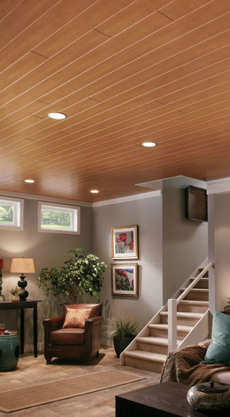 WoodHaven ceiling planks make a bold statement in any room, but in a ...